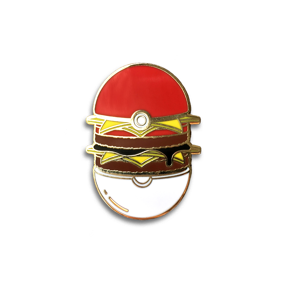 Pikachu Burger Lapel Pin