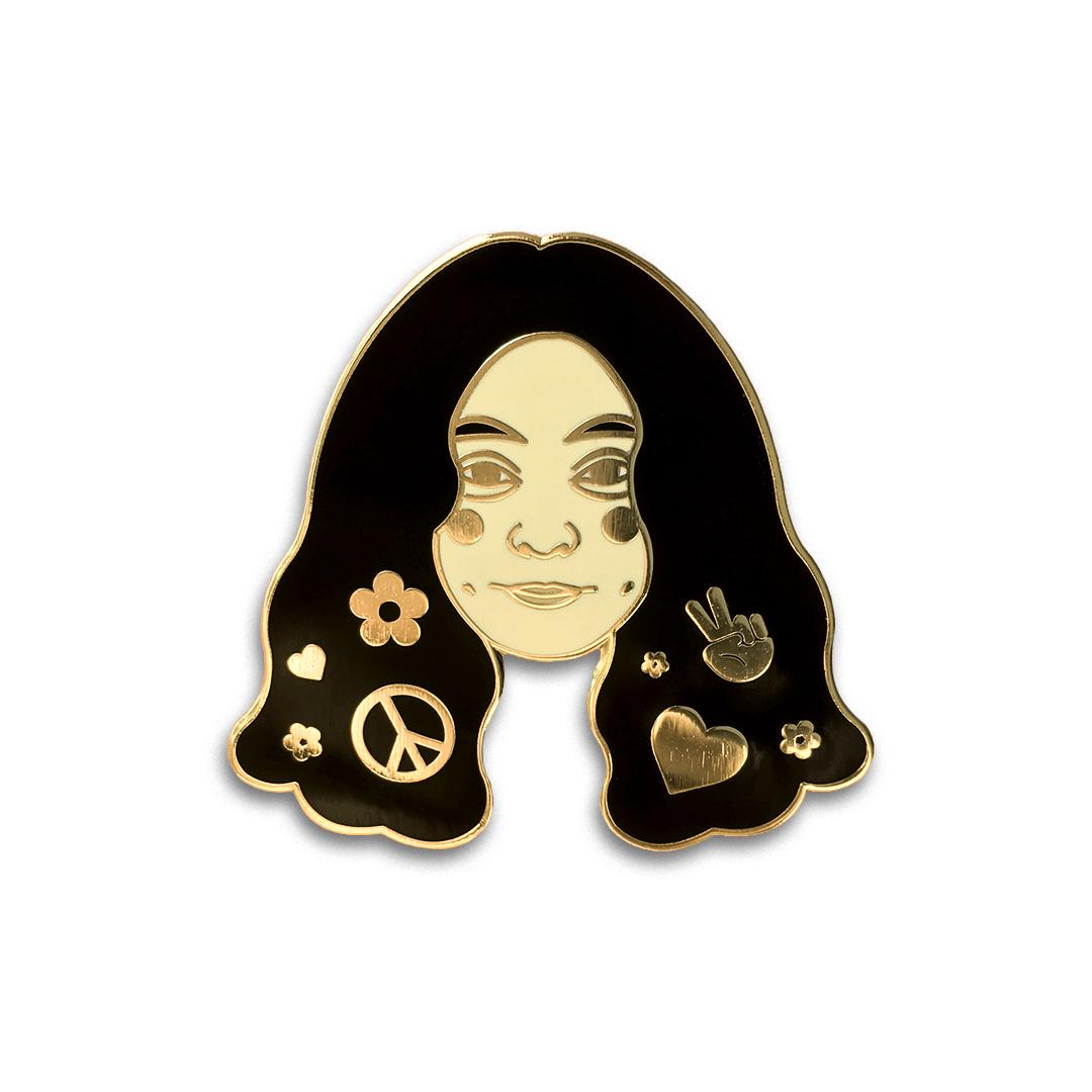 Yoko Ono Lapel Pin